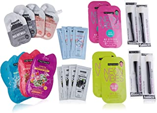 Freeman Beauty Everyday and Neon Vibes Facial Mask Variey Pack with Silicone Brush Mask Applicators