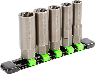 OEMTOOLS 22986 5 Piece Spiral Type Deep Extractor Set on Aluminum Rail