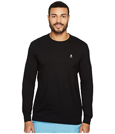 Psycho Bunny Crew Neck Long Sleeve T-Shirt (Black) Men