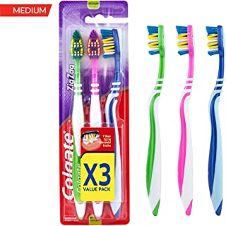 Colgate Zigzag Toothbrush Medium 3 Pack Value Pack