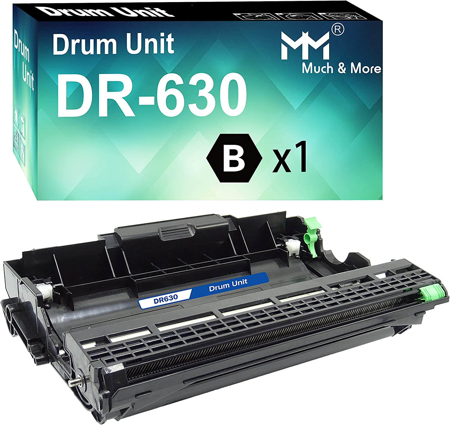 MM MUCH & MORE Compatible Drum Unit Replacement for DR-630 DR630 Used with DCP-L2520DW DCP-L2540DW HL-L2300D HL-L2320D HL-L2340DW HL-L2360DW HL-L2380DW HL-L2680W MFC-L2700DW Printers (1-Pack)