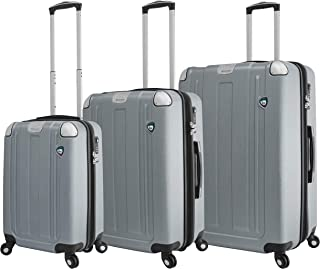 Mia Toro Mia Toro Italy Accera Hardside Spinner Carry-on,Aluminum