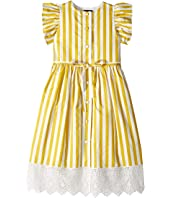 Oscar de la Renta Childrenswear - Yellow Stripped Dress (Little Kids/Big Kids)