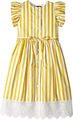 Yellow Stripped Dress (Little Kids/Big Kids)
