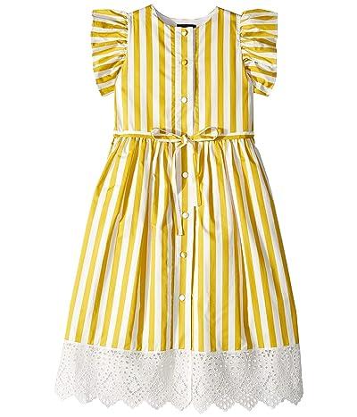 Oscar de la Renta Childrenswear Yellow Stripped Dress (Little Kids/Big Kids) (Ochre) Girl