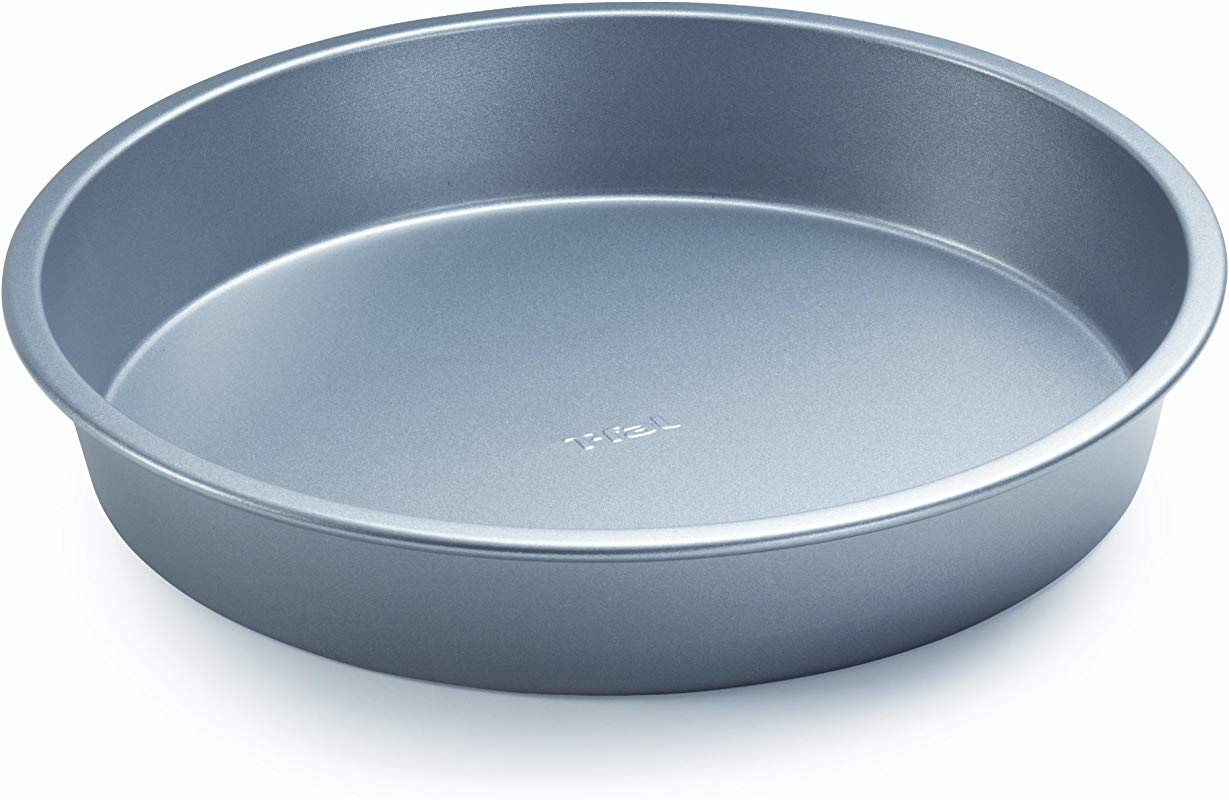T Fal 84831 Professional Bakeware Nonstick Cake Pan Round 9 Inch Gray