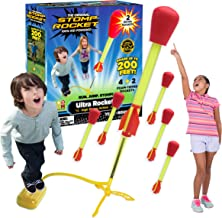 Stomp Rocket Ultra Rocket with Ultra Rocket Refill Pack, 6 Rockets - Outdoor Rocket Toy Gift for Boys and Girls - Comes wi...