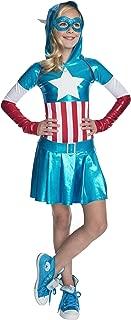 Rubies Marvel Classic Child's American Dream Hoodie Costume Dress, Large