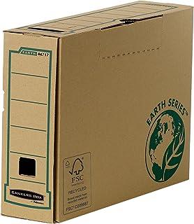 Bankers box earth series-boîte d'archives-dos 80 mm-étui en carton 100 % recyclé, lot de 20 (marron)