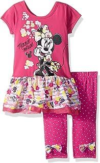 Disney - Juego de 2 Leggings de Minnie para bebés y niñas