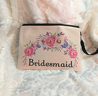 Bridesmaid Makeup Bag | Wedding Party Gifts | Bride Tribe Gift