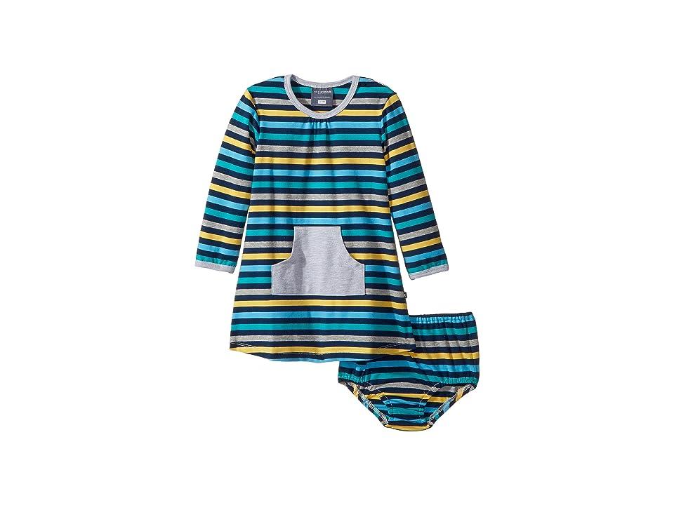 Toobydoo The Oscar Pocket Dress (Infant/Toddler) (Blue/Green) Girl