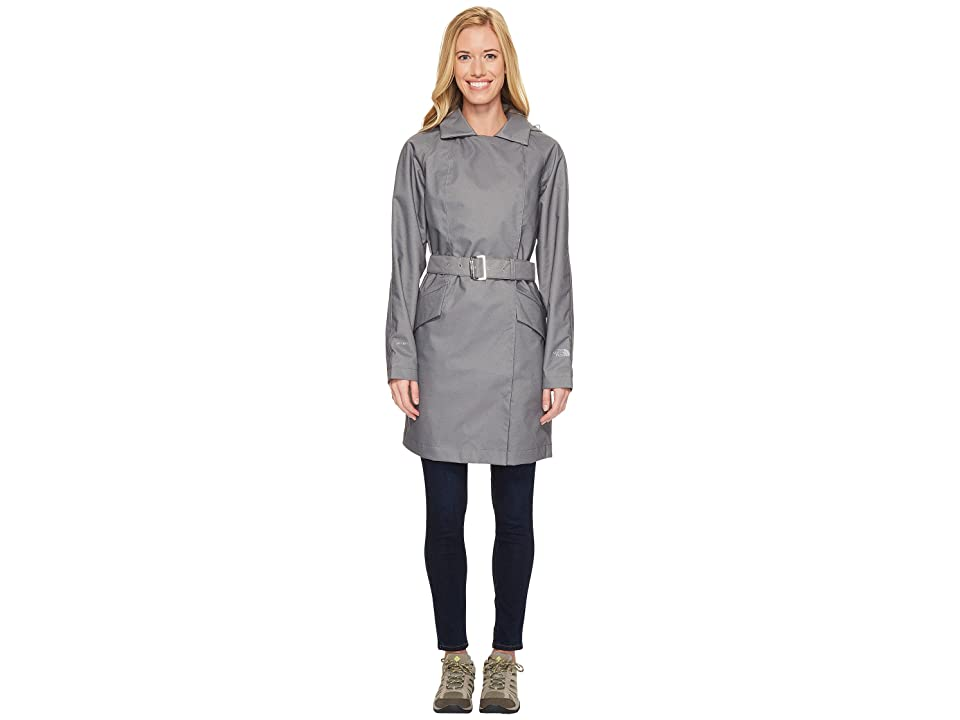 The North Face Kadin Trench Coat (TNF Medium Grey Denim (Prior Season)) Women