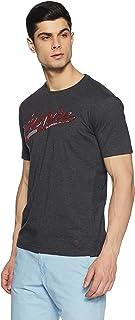 John Players Men's Printed Slim Fit T-Shirt