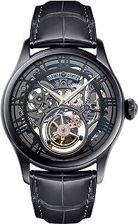 Memorigin - Hombre mo0123 Auspicious Serie Negro Tourbillon Reloj