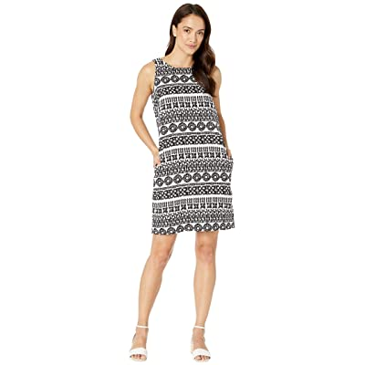 Tommy Bahama Tahiti Tango Shift Dress (White/Black) Women