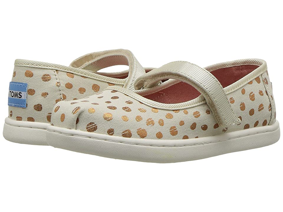 TOMS Kids Mary Jane (Infant/Toddler/Little Kid) (Rose Gold Dots) Girls Shoes