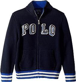 edd47cfa0 Hunter Navy. 27. Polo Ralph Lauren Kids. Cotton Full Zip Sweater (Little  Kids Big Kids)