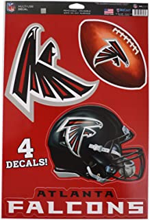 WinCraft Official National Football League Fan Shop Licensed NFL Shop Multi-use Decals (Atlanta Falcons)
