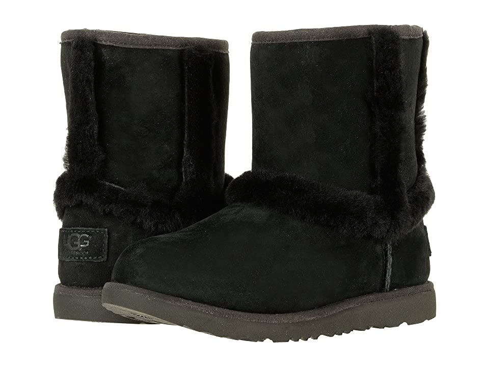 UGG Kids Hadley II Waterproof (Toddler/Little Kid/Big Kid) (Black) Girls Shoes