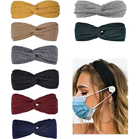Women/'s Bow Printed Hairband Button Anti-Legging Protector Headbands Hairband