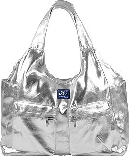Aqua di Mare Damen Borsa Metal Runde, metallische Strandtasche mit Aufdruck