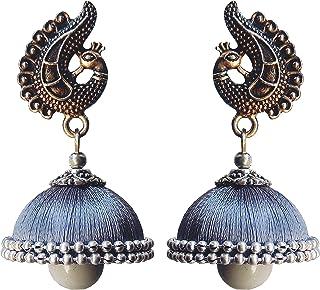 edaf8f3e7 Designer fashion stylish silk thread earrings jhumkas for girls women party  wear