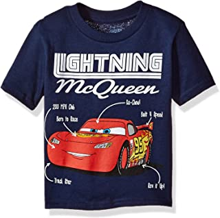 Disney Toddler Boys' Lightning McQueen Short Sleeve T-Shirt