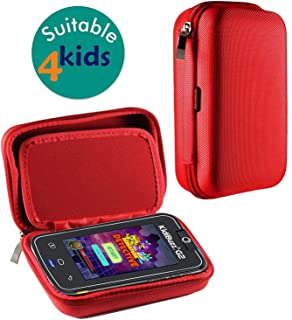 Navitech Red Premium Travel Hard Carry Case Cover Sleeve Compatible with The VTech KidiBuzz G2