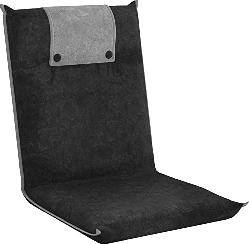 lowest bonVIVO Padded Floor Chair wholesale - Easy II Floor Seating for Adults w/Adjustable Backrest, 2021 Dark Gray outlet online sale