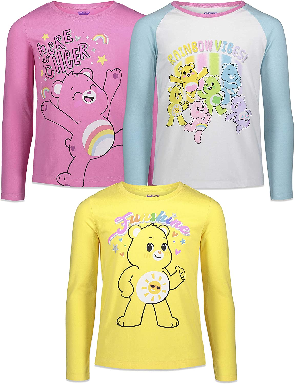 Care Bears 3 Pack Sleeve Long Minneapolis Mall price T-Shirt Graphic
