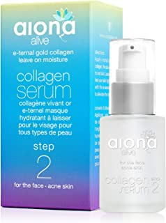 E-ternal Collagen Serum for Face - All Skin Types (Step 2), Gold Collagen Leave-On Moisturizer, 30mL – Aiona Alive