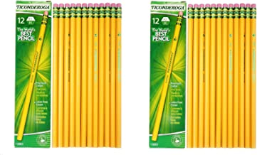 Dixon Ticonderoga Woodcase Pencil, H #3, Yellow Barrel - 24 Count (13883)