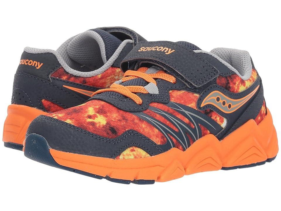 Saucony Kids Flash A/C (Little Kid) (Navy/Orange) Boys Shoes