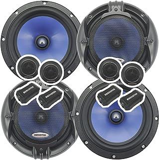 2 pares Audiotek 65C 2000W 6.5 pulgadas 2 vías sistema de altavoces de componentes de audio de coche 6-1/2 pulgadas - bobi...