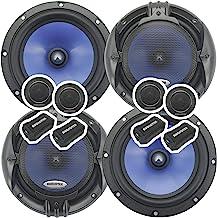 2 Pairs Audiotek 65C 2000W 6.5-Inch 2-Way Car Audio Component Speaker System 6-1/2in - Aluminum Voice Coil - IMPP Cone wit... photo