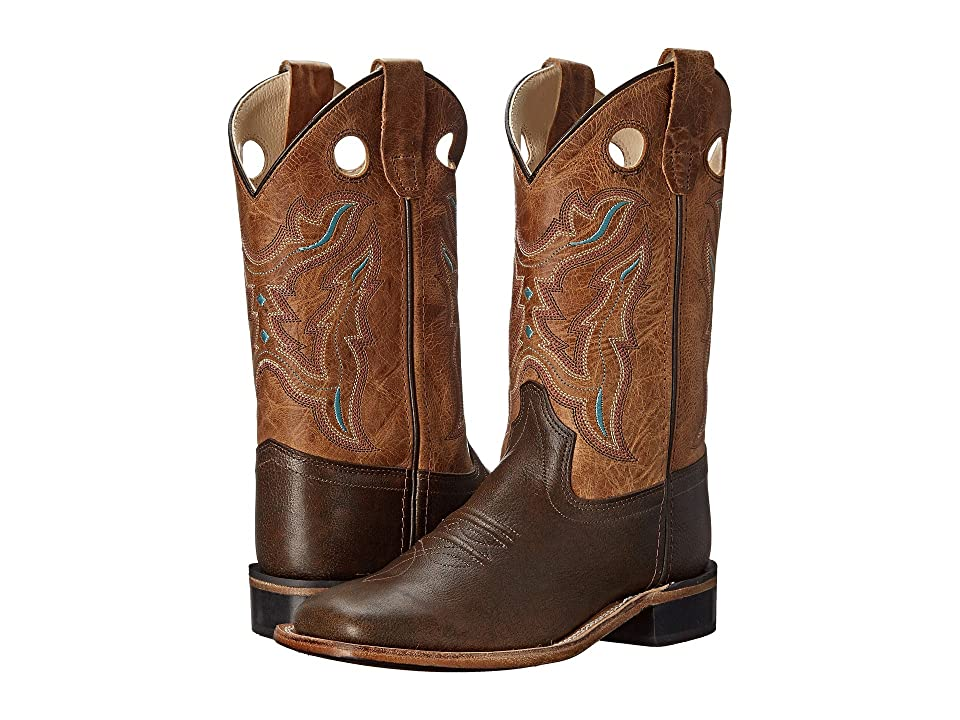 Old West Kids Boots Western Boots (Toddler/Little Kid) (Brown Tumble/Tan Fry) Cowboy Boots