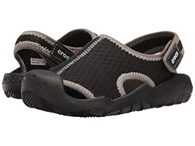Crocs Kids Swiftwater Sandal (Toddler/Little Kid) (Black/White) Kids Shoes