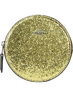 코치 동전 지갑 COACH Round Coin Case,Gold/Silver