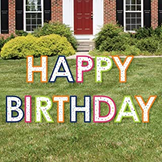 Big Dot of Happiness Cheerful Happy Birthday - Yard Sign Outdoor Lawn Decorations - Colorful Birthday Party Yard Signs - Happy Birthday