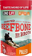 Beef Bone Broth Powder by LonoLife, Grass Fed, 10g Collagen Protein, Keto & Paleo Friendly, Low-Carb, Gluten Free, Portabl...