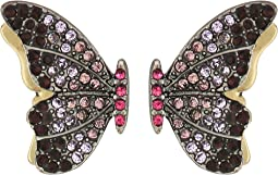 Betsey Johnson - Purple Tonal Butterfly Stud Earrings