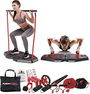 Fusion Motion Portable Gym with 8 Accessories Including...