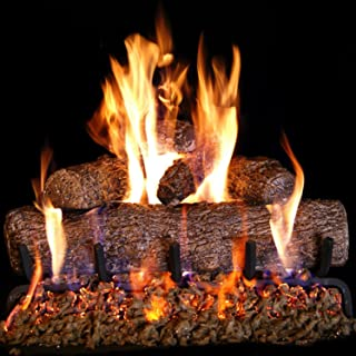 Peterson Real Fyre 24-inch Live Oak Log Set With Vented Burner and Gas Connection Kit. Match Lit (Natural Gas Only)