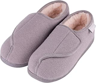 Women's Furry Memory Foam Diabetic Slippers Comfy Cozy Arthritis Edema House Shoes