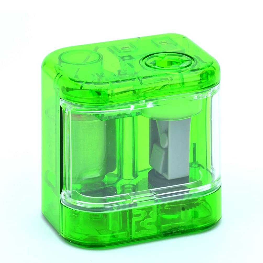 Mini Green Electric Pencil Sharpener