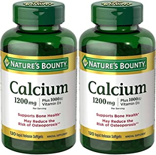 Nature's Bounty Calcium 1200 Mg. Plus Vitamin D3, 240 Softgels (2 X 120 Count Bottles)
