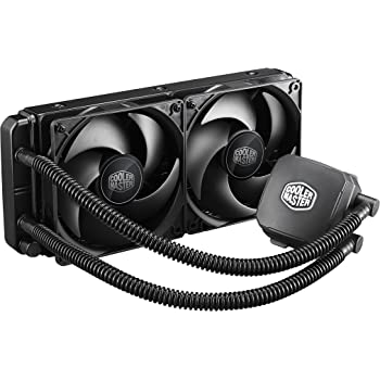 Cooler Master Nepton 240M CPU Water Cooling System, All-In-One Kit with 240mm Radiator and 2 Silencio Fans RL-N24M-24PK-R2,Black