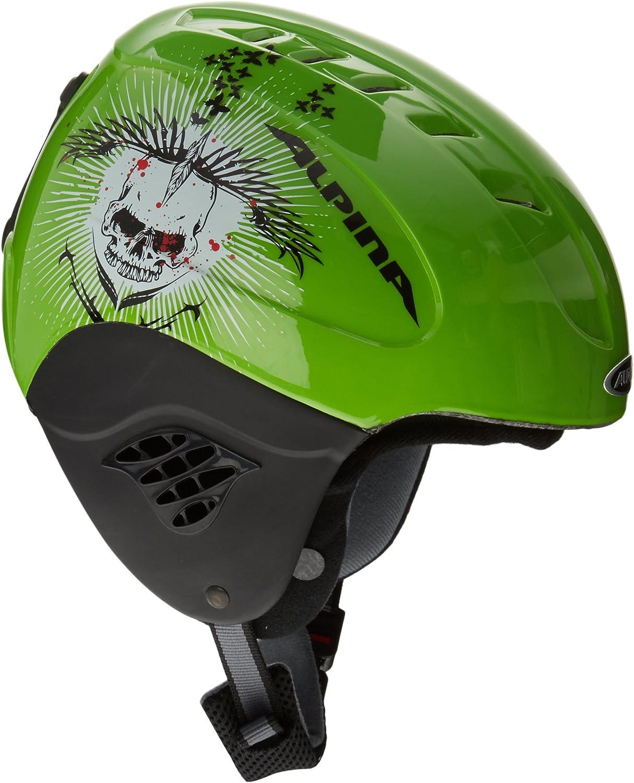(XSS (4852 cm), Green Death Skull)  Alpina Grap 2010 Womens Ski Helmet Black blackgrey matt (blackgrey matt) Size 5761