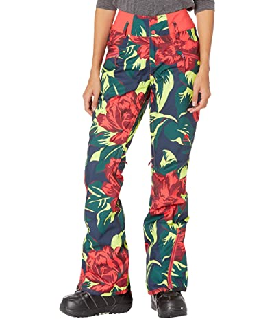 Burton Marcy High-Rise Pants (Hibiscus Pink Oversized Floral) Women